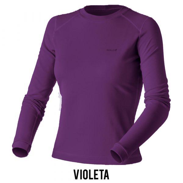 Blusa Solo X-Thermo DS T-Shirt Feminina - Violeta
