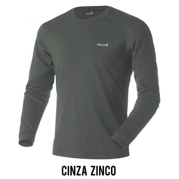 Blusa Solo X-Thermo DS T-Shirt Masculina - Cinza Zinco