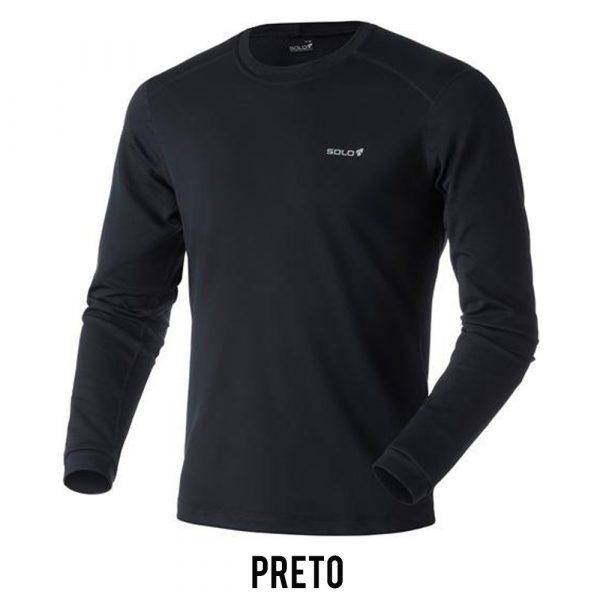 Blusa Solo X-Thermo DS T-Shirt Masculina - Preta