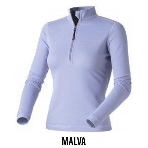 Blusa Solo X-Thermo DS Zip Feminina - Malva