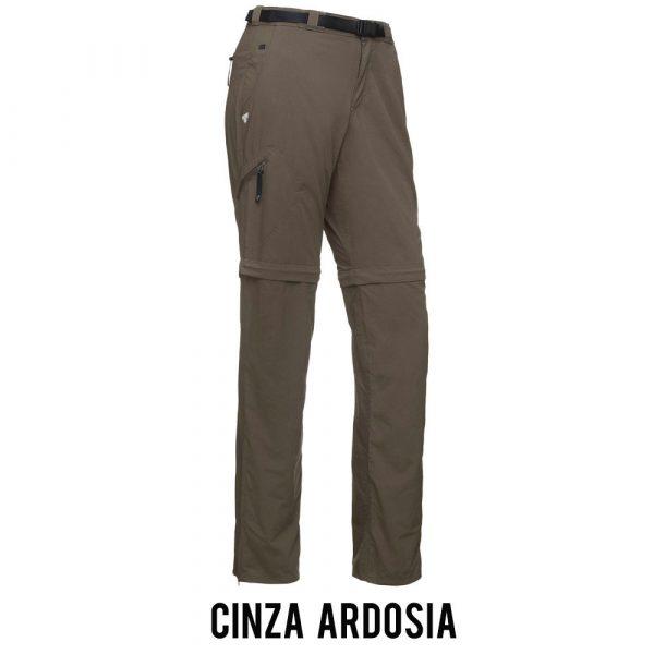 Calça Bermuda Solo Genus Feminina - Cinza Ardosia