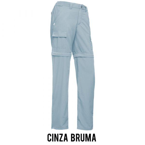 Calça Bermuda Solo Trekking Feminina - Cinza Bruma