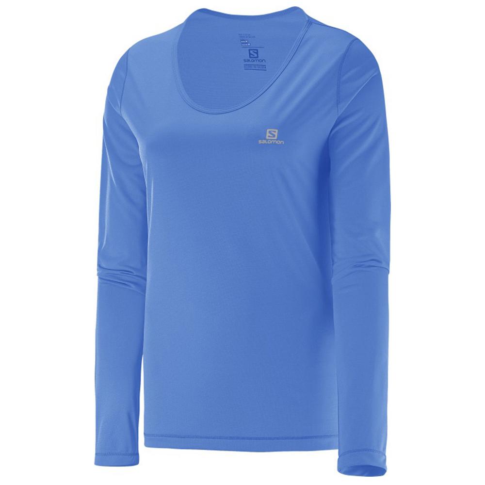 Camiseta Salomon Sonic UV Feminina - Azul