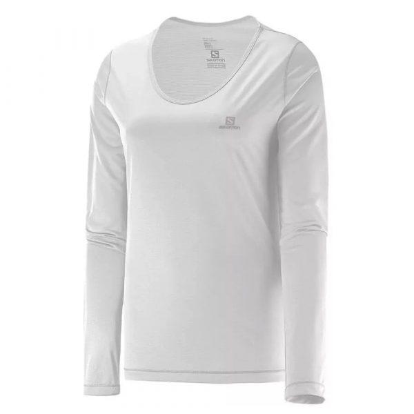 Camiseta Salomon Sonic UV Feminina - Branca