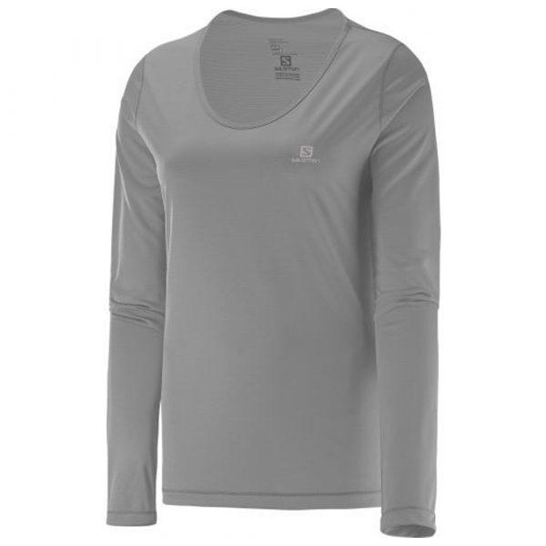 Camiseta Salomon Sonic UV Feminina - Cinza