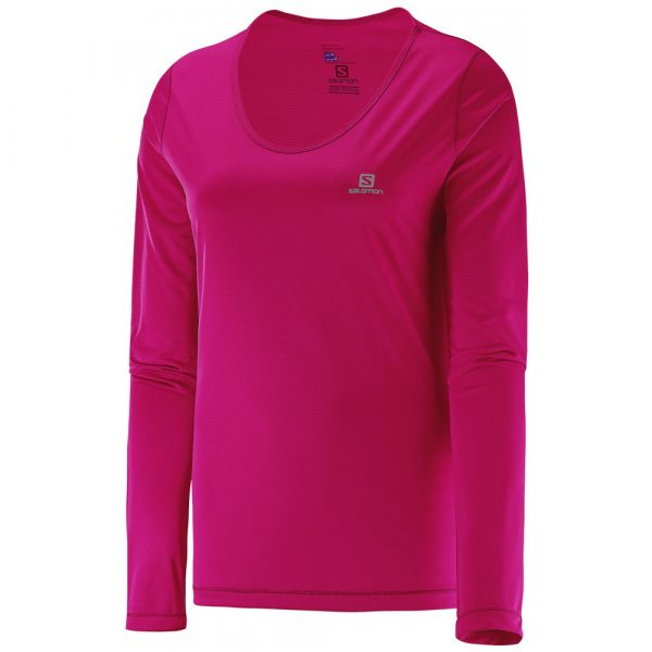 Camiseta Salomon Sonic UV Feminina - Rosa