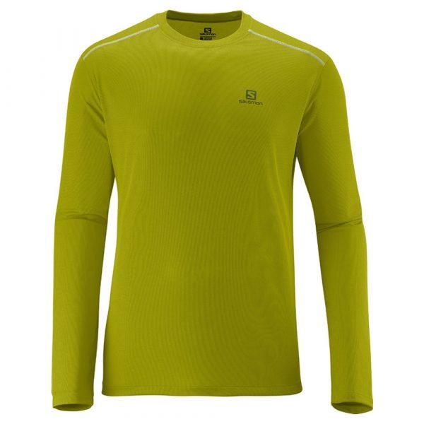 Camiseta Salomon Stroll ML - Masculina - Verde