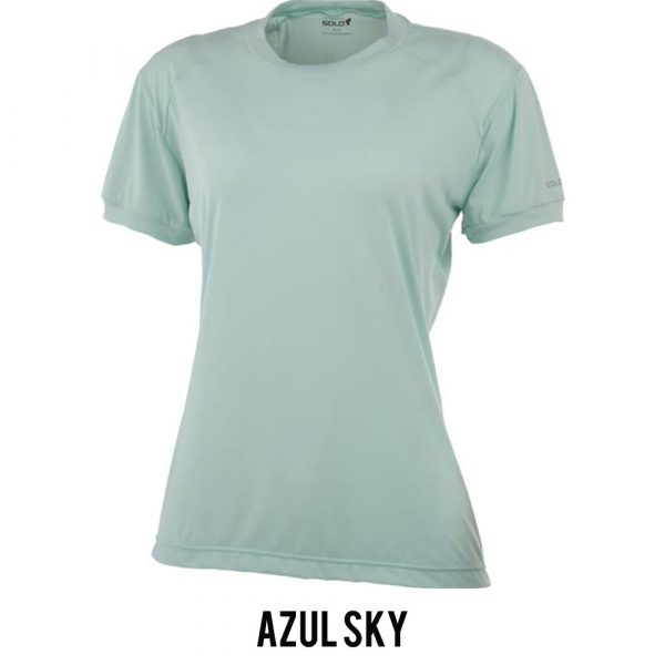Camiseta Solo Ion Lite Feminina - Azul Sky - MC
