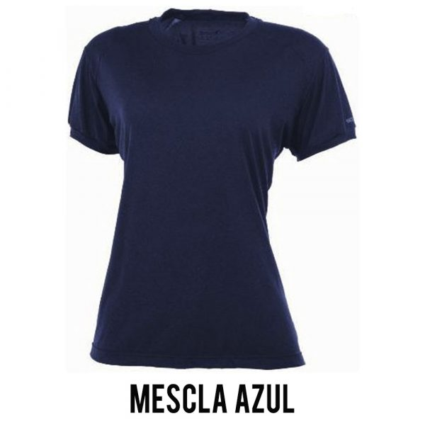 Camiseta Solo Ion Lite Feminina - Mescla Azul - MC