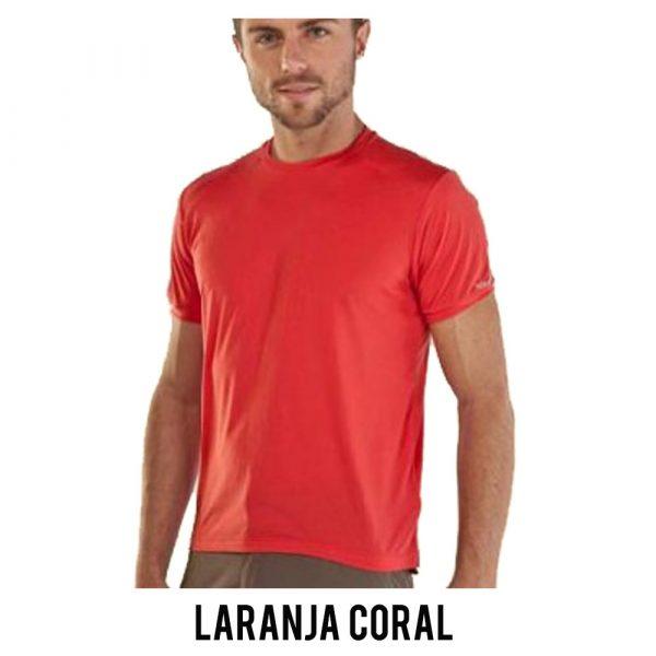 Camiseta Solo Ion Lite Masculina - Laranja Coral - MC