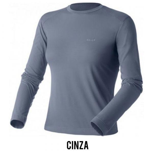 Camiseta Solo Ion Lite ML Feminina - Cinza