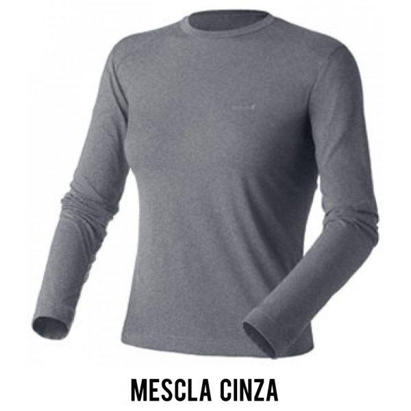 Camiseta Solo Ion Lite ML Feminina - Mescla Cinza