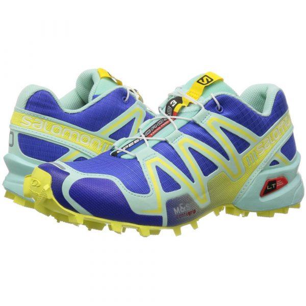 Tênis Salomon SpeedCross 3 Feminino - Azul/Amarelo