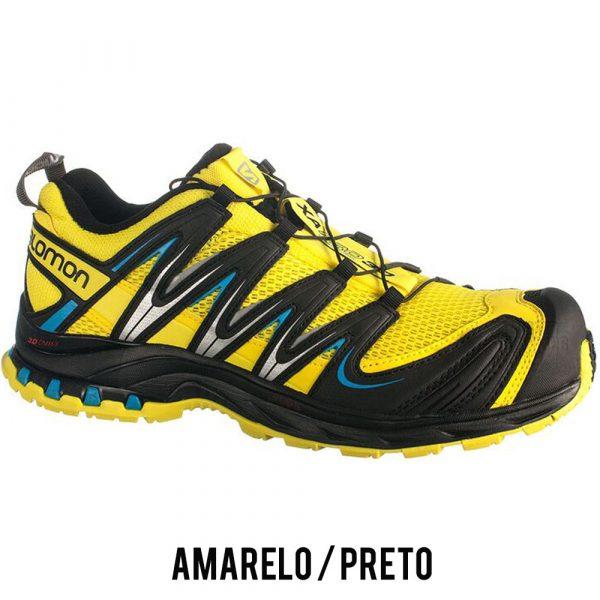 Tênis Salomon XA PRO 3D Masculino - Amarelo/Preto