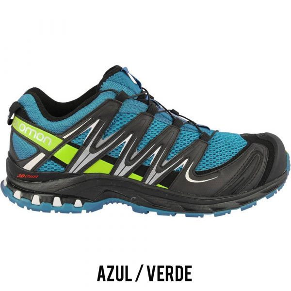 Tênis Salomon XA PRO 3D Masculino - Azul/Verde