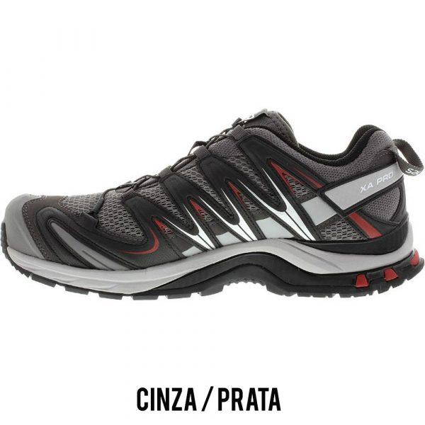 Tênis Salomon XA PRO 3D Masculino - Cinza/Prata