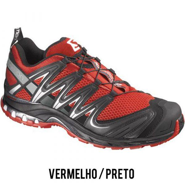 Tênis Salomon XA PRO 3D Masculino - Vermelho/Preto